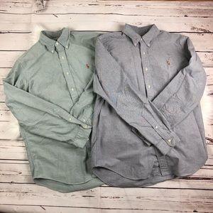 Lot of 2 Ralph Lauren Button Down Shirts Large